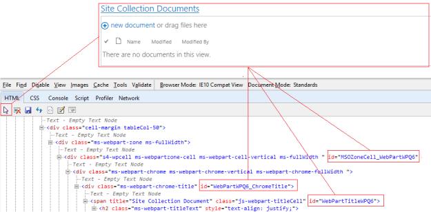 WebPartByTitle_HTMLElement