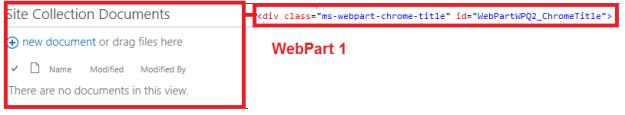 WebPartByTitle_HTMLElement_ApresDelete