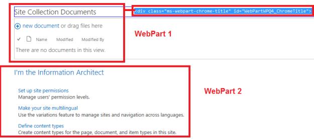 WebPartByTitle_HTMLElement_AvantDelete